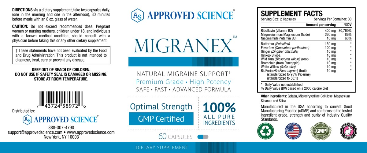 Migranex Supplement Facts